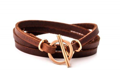 bracelet cuir avec fermoir