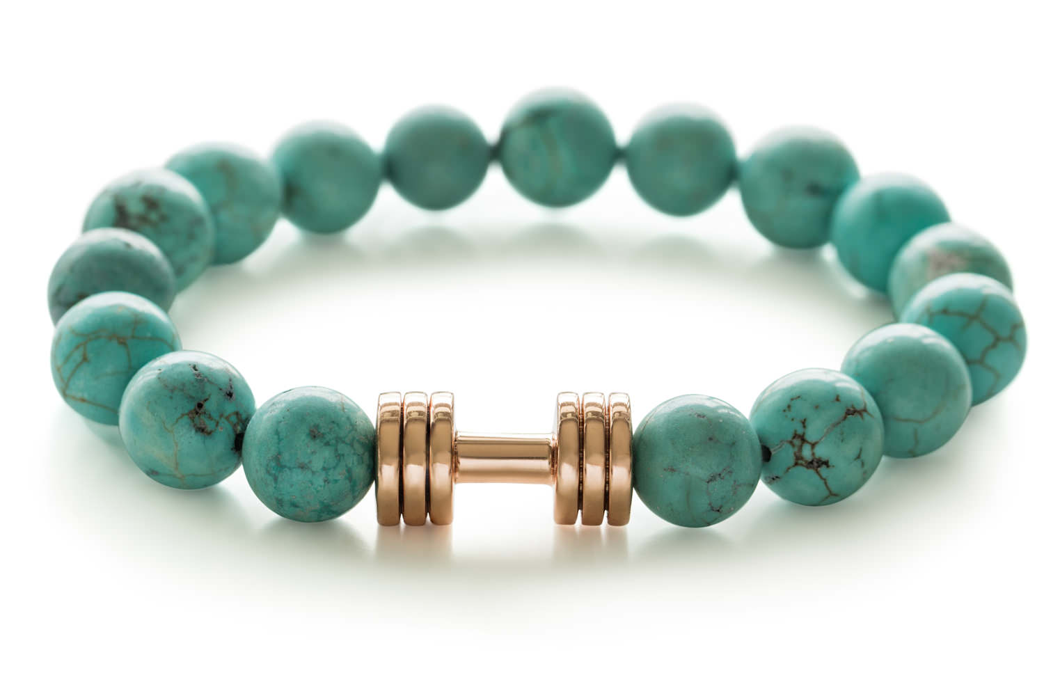 Turquoise rose gold dumbbell bracelet fitness jewelry Fit Selection